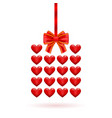 hearts gift valentines day vector image