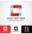 hi-tech trendy initial icon logo o vector image vector image