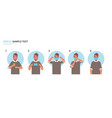 how to wear medical face mask covid-19 protection vector image