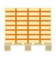 icon of construction pallet vector image vector image
