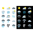 icons weather vector image vector image
