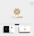 initial m luxury logo template and business card vector image vector image