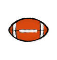 isolated football ball icon vector image vector image