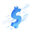 isometric dollar sign vector image