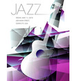 jazz festival music background with a generic guit vector image vector image