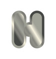 letter h steel font metal alphabet sign iron abc vector image vector image
