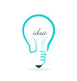 light bulb creative idea vector image