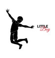 little child baby little boy jumping for joy vector image