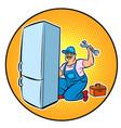 master refrigerator repair vector image vector image