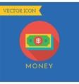 Money Icons Set Shop money or commerce vector image