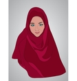 muslim girl dressed in colored hijab vector image