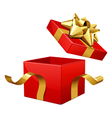 opened gift box vector image vector image
