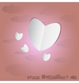 Paper Heart With Pink Background vector image