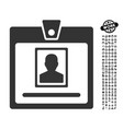person badge icon with people bonus vector image vector image