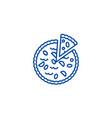 pie bakery line icon concept pie bakery flat vector image
