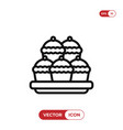 pie icon vector image