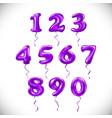 pink purple number 1 2 3 4 5 6 7 8 9 0 metallic vector image vector image