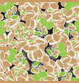 pistachio hand draw seamless background vector image