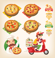 Pizza set vector image vector image