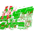 printed circuit board without electronic component vector image