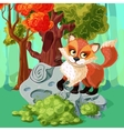 Red Fox Cartoon Style Design vector image