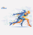 running athletes sport and competition background vector image vector image