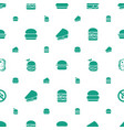 sandwich icons pattern seamless white background vector image vector image