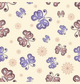 seamless butterfly randomly pattern texture vector image vector image