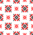 Seamless texture with red black abstract patterns vector image vector image