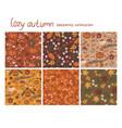 set 6 cozy autumn patterns graphics vector image vector image