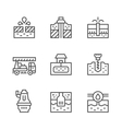 Set line icons of water bore vector image vector image