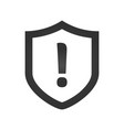 shield with exclamation mark icon protection vector image vector image