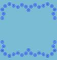 snowflake frame 3011 vector image vector image