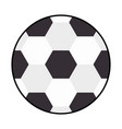 soccer balloon isolated icon vector image vector image