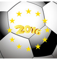 Soccer Football background with stars vector image vector image