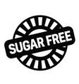 sugarfree rubber stamp vector image
