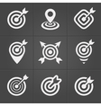 Target icons pack for business mobile interface vector image vector image