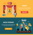 theatre banner set vector image vector image