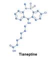 tianeptine drug treatment vector image vector image