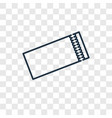 ticket concept linear icon isolated on vector image