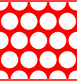 tile pattern with white polka dots red background vector image vector image