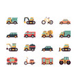 transport flat icon transportation symbols vector image vector image