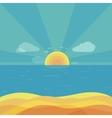 Travel Beach Sunrise Design Flat vector image