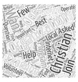 Which Christian Organizations Should You Join Word vector image vector image