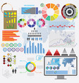 big set of flat devices with infographic elements vector image