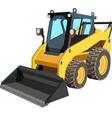 Yellow Skid Loader vector image