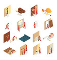 home renovation isometric icons vector image