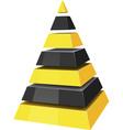 3d pyramids vector image vector image