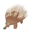 A borwn porcupine icon cartoon style vector image