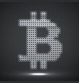 abstract neon sign bitcoin of dots vector image vector image